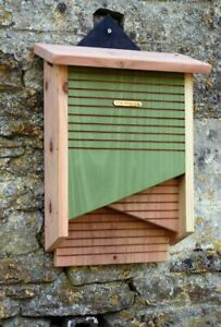 Mounted Conservation Bat Box With Twin Vertical Chambers