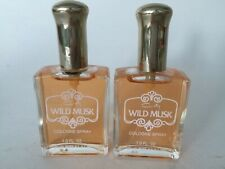 VINTAGE WILD MUSK By COTY PFIZER Perfume Women 1 oz COLOGNE SPRAY (Lot of 2)