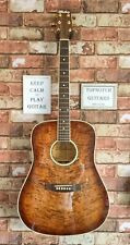 KIMBARA ACOUSTIC GUITAR 27F TIGER MAPLE TOP INC FREE GIG BAG. (LOVELY CONDITION)