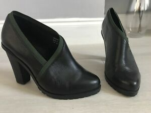 And Other Stories Black Leather High Instep High Heel Shoes Size 5