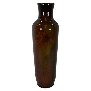 Roseville Pottery Rozane Early 1900s Standard Glaze Orange Floral Vase 833-11