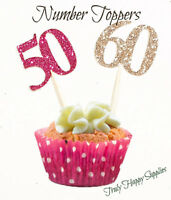 Birthday Cupcake Toppers Any Age 1 2 3 4 13 16 18 20 21st 30 40 50th 60 70 80 90
