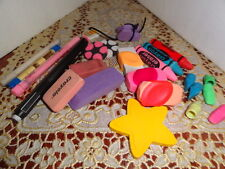 erasers - lot of 24 - various shapes/colors