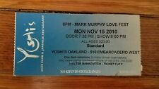 ticket stub - Mark Murphy love fest - Yoshi's Oakland California - 2010