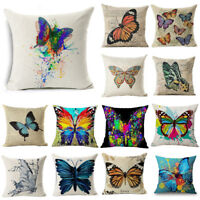 """18"""" Ink Painting Butterfly Throw Pillow Case Sofa Car Cushion Cover Home Decor"""