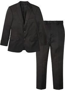 Anzug Set N-Größe Gr 50 Anthrazit Längs Gestreift Herren-Anzug Blazer Neu