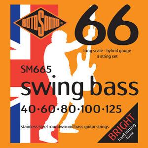Rotosound Stainless Steel Roundwound Hybrid 5 string bass 40-125 SM665