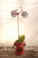 Gartenstecker Red Bike Gartenfigur Windmühle Gartendeko Dekofahrrad Deko