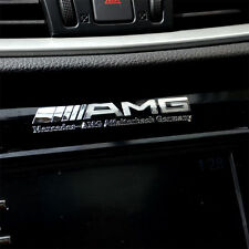 New 2 x ALLOY Silver AMG Badge Decal Emblem Adhesive Sticker For Mercedes S171