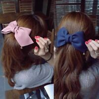 Women Solid Cloth Bows Hair Clips Hairpins Girl Wedding Hair Jewelry Accessory
