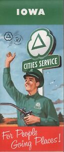 1960 Cities Service Road Map: Iowa NOS