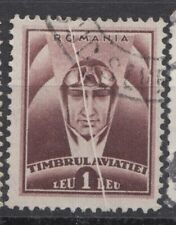 Romania STAMPS AVIATION FUND PILOT ERROR USED POST