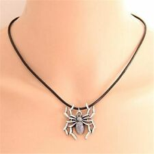 Quality  Halloween Spider Choker Antique Silver Necklace Jewelry Pendant Chain
