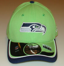 New Era Hat Cap NFL Football Seattle Seahawks Reverse 39THIRTY L XL Flex Fit 3f4d0b87b