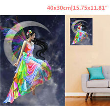 Fairy Elf & Crescent 5D Diamond Painting Embroidery Cross Stitch Kit Home Decor