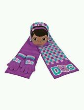 Official Doc McStuffin - Hat, Scarf & Gloves - Purple 3 Piece Set