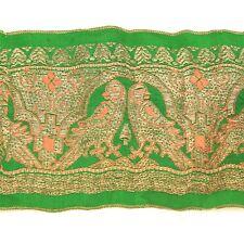 2m (6 foot) LONG Old Antique India SARI Saree TRIM Embroidered Textile 652k4