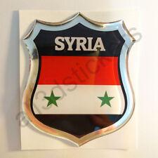 Sticker Syria Emblem 3D Resin Domed Gel Syria Flag Vinyl Decal Car Laptop