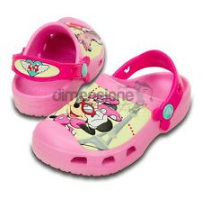 SCARPE CROCS BAMBINA TG 32 33 MINNIE JET SET DISNEY US J 1 15857 SABOT ROSA KIDS