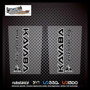 Kayaba Enzo Upper Fork Black On Clear Decal Sticker MX (4)
