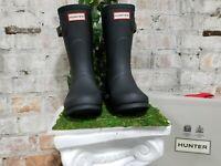 NIB - Hunter Short Black Original Woman's Rain boots Authentic New - Pick Size