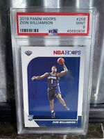 2019 Panini Hoops Zion Williamson Rookie PSA 9 Mint RC #258