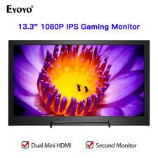 "Eyoyo Portable 13.3"" IPS HDMI Monitor 1920x1080 Color Gamut 72% for Raspberry Pi"