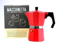 "Espressokocher Espressomaker ""Macchinetta"", traditionell, 6 Tassen, rot, hot!!"