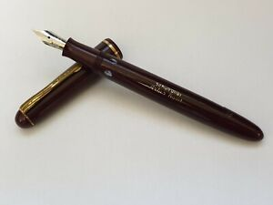 VINTAGE FOUNTAIN PEN ARTUS BOLLIT 42 OF BURGUNDY MADE IN GERMANY RARE PEN !