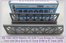 EE 7262 New Marklin HO Straight Truss Bridge for K/M Track w Blue OBX