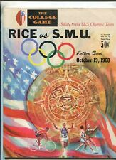 Rice Vs S.M.U. Cotton Bowl Oct.19,1968   Football Program   MBX103
