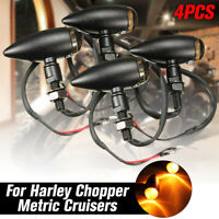 4x Motorcycle Bullet Indicator Bulb Light Turn Signal For Harley Bobber Racer