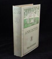Novel ANN BOYD by Will N. Harben Harper & Brothers 1st Edition ©1906