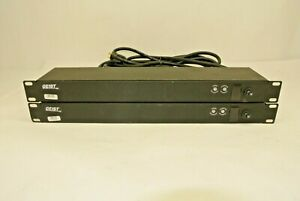 Lot of (2) GEIST 6-Outlet 12A 125VAC Rackmountable 1U Power Strip SPN064-15TL