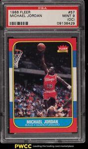 1986 Fleer Basketball Michael Jordan ROOKIE RC #57 PSA 9(oc) MINT