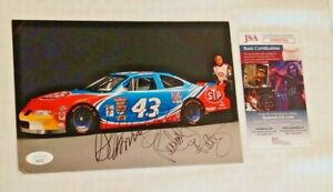 Richard Petty Bobby Hamilton Signed Autographed NASCAR 1990s Hero Card Photo JSA