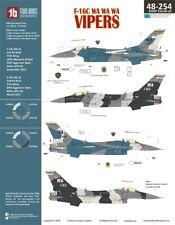 NEW 1:48 Two Bobs Decals 48254 Lockheed-Martin F-16C WA WA WA Vipers