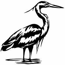 "BIRD Vinyl Decal Sticker Car Window Wall Bumper Laptop Great Blue Heron Black 6"""