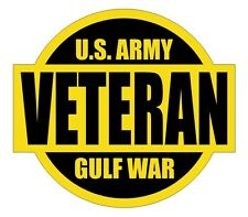 US Army Gulf War Veteran Hard Hat Decal / Label / Helmet Sticker Military USA