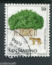 SAINT-MARIN - SAN MARINO, 1979, timbre 990, FLORE, FICUS BENGHALENSIS, oblitéré