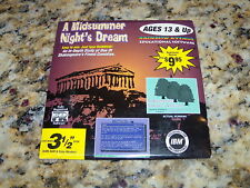 A Midsummer Night's Dream (PC) Game New 3.5 Floppy Disk Disc Fast