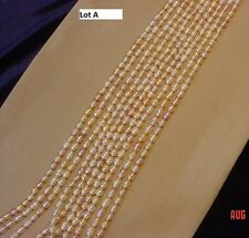 """Genuine 16"""" loose pink-purple fresh-water pearl strand, approx. 5-6 mm x 7 mm"""