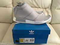 ADIDAS NMD CS1 CITY SOCK PK PRIMEKNIT GREY WHITE S32191 SIZE UK 7 8 9 11.5 12