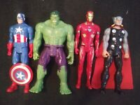 Lot of 12 Inch Marvel Avengers Action Figures Thor Iron Man Captain America Hulk