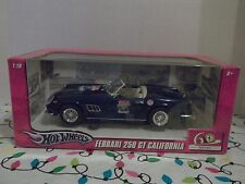 HOT WHEELS~FERRARI 250 GT CALIFORNIA~NAVY BLUE~60 YEARS~1947-2007~1:18 SCALE
