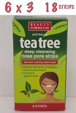 18 Beauty Formulas Deep Cleansing Nose Pore Strips Hazel & Tea Tree X 3 18 STRIP