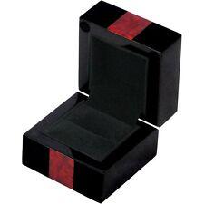 Piano Black and Makah Burl Ring Box