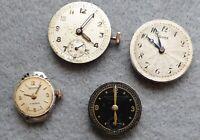 Mix of ladies/gents vintage watch movements for repair, Rone, Terminus etc.