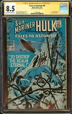 "Tales to Astonish #98 CGC 8.5 ""Signed Stan Lee"" Sub-Mariner Cover 1967"