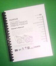 LASER PRINTED Fujifilm F500EXR F550EXR FinePix Camera 151 Page Owners Manual